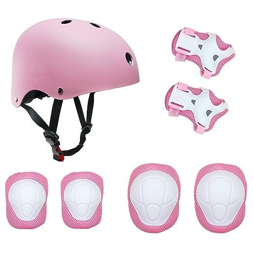 17 opinioni per Set di casco, ginocchiere, gomitiere e guanti in gel per bambini, per