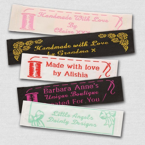 Woven Craft Labels - 25 Personalized 100% Woven Sewing Labels 1