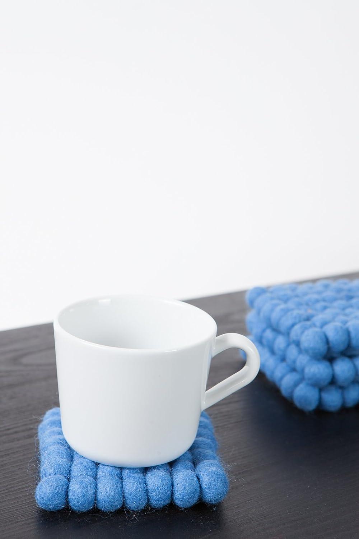 myfelt Filzkugel Untersetzer 9x9 cm blau Mavi