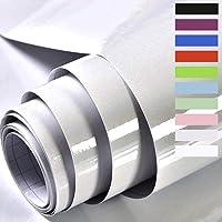 Grijs Meubelsticker Zelfklevende Behang Sticky Back Plastic Roll Glossy Glitter Effect Vinyl Film voor Muren Deuren…