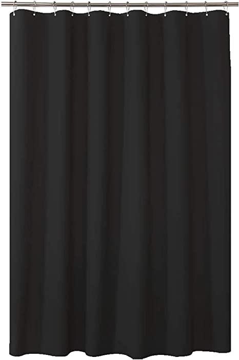 Solid Black Plastic Shower Curtain  Bathroom Decoration ~ Brand New in Package