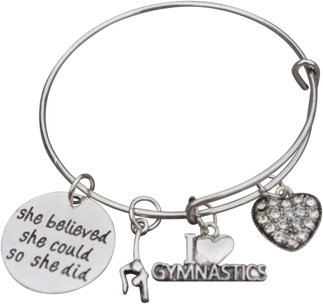 Infinity Collection Gymnastics Bangle Bracelet- Girls Gymnastics Bracelet- Gymnastics Jewelry for Gymnast …