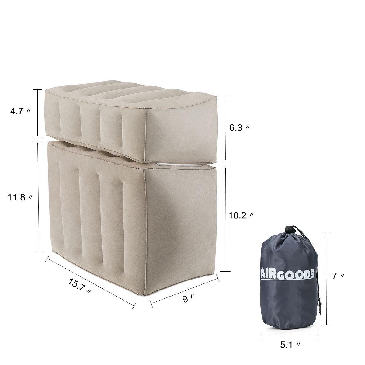 Amazon.com: airgoods inflable almohada de viaje para ...