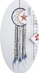 Dream Catchers Crafts for Teen Girls Bedroom Decor Wall Art Authentic Beads Star Swing Half Circle Moon Cutie Dreamcatcher for Boy Room Decoration,Baby Shower,Beach Party Favors,Kid Age 12 Living Room