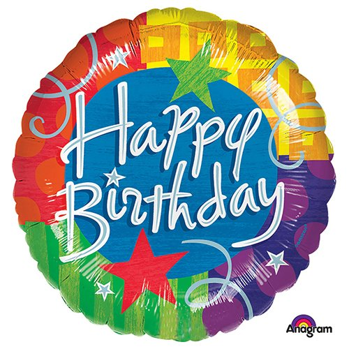 Anagram A1160 5 Birthday Blitz Foil Balloon 32 Multicolored
