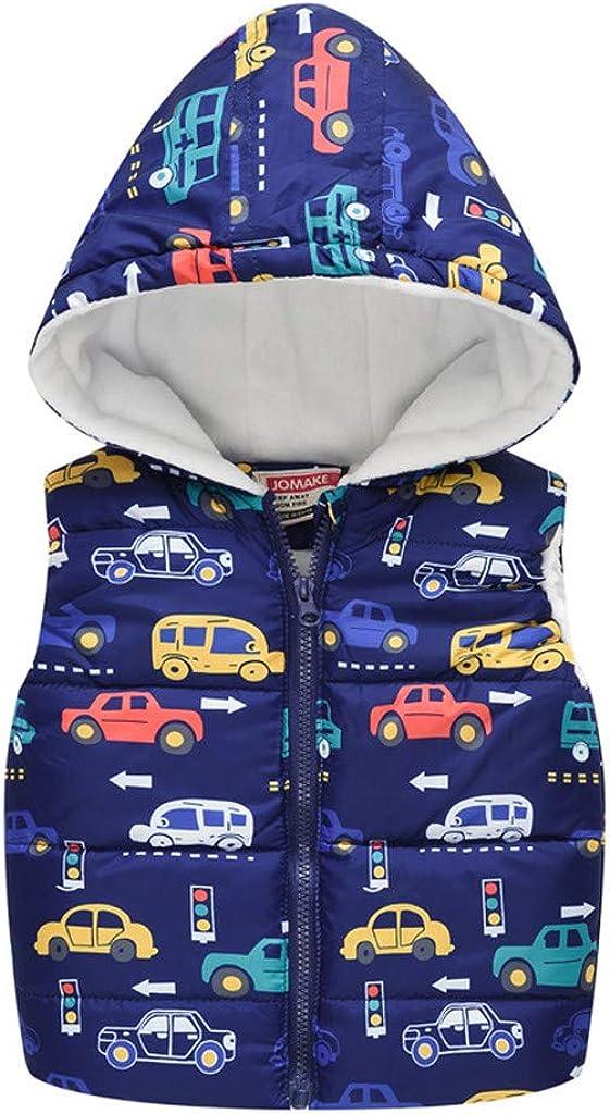 Sleeveless Jackets for Kids,DDKK Baby Zipper Waistcoat Thicken Warm Vest Jacket for Child Sleeveless Gilet Coat