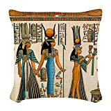 CafePress - Ancient Egyptian Wall Tapestry - Woven Throw Pillow, Decorative Accent Pillow
