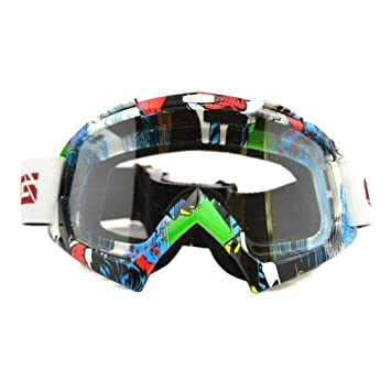 ColorJoy Motocross MX ATV Dirt Bike Gafas de cross country Eye Wear con Colorful/Clear