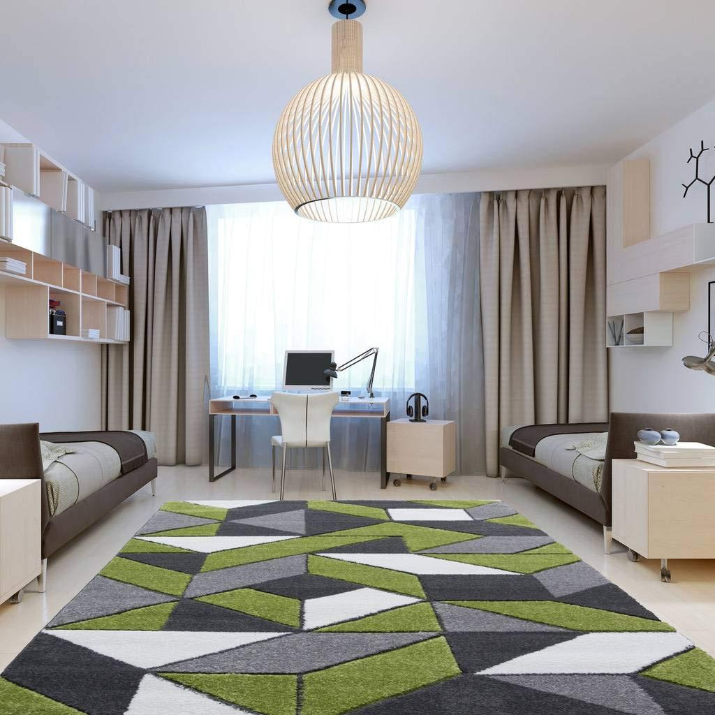 Amazon.com: Rio Green Gray Geometric Tiles Mosaic Modern ...