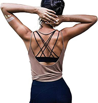 MEIbax Sexy Chaleco de Yoga de Dama Halter Verano Top sin ...