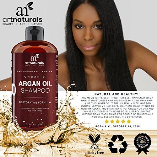 Art Naturals Moroccan Argan Oil Shampoo For Women Men And Teens 16 Oz