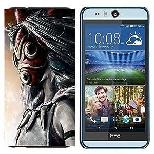 EJOOY---Cubierta de la caja de protección para la piel dura ** HTC Desire Eye M910x ** --Totem máscara de dibujos animados