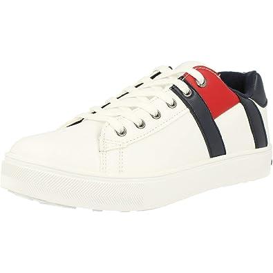 TOMMY HILFIGER Sneaker bambino bianca in pelle