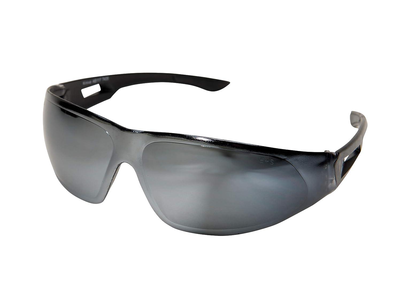 Black with Silver Mirror Lens Edge Safety Eyewear Edge Eyewear AB117 Kirova Safety Glasses