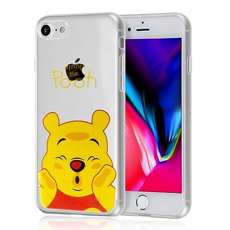 shopinsm tipo® Transparente silicona TPU funda Carcasa con diseño de dibujos animados Disney ¡Feliz Navidad. Para Apple iPhone 8 4.7