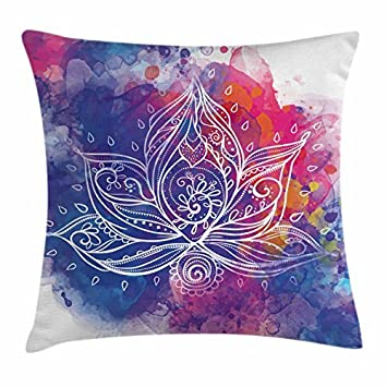 amazon com narxekezhaeta lotus throw pillow cushion cover rh amazon com