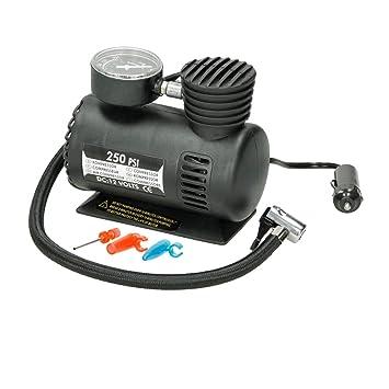 ECD Germany Mini Compresor Mini Bomba de Aire Compresor de Coche 12V 250 PSI