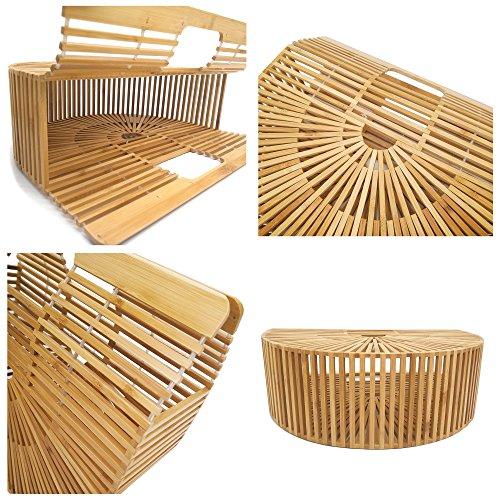 Women Bamboo Purse Handmade Handbag Tote Bag by vodiu (Image #3)