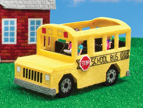 School Bus Plastic Canvas Kit