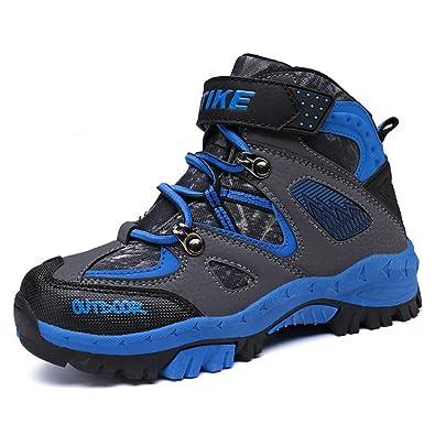 bdb535de896f8 Chaussures en Coton pour Enfants Bottes de Neige d hiver Chaussures de  randonnée(Bleu