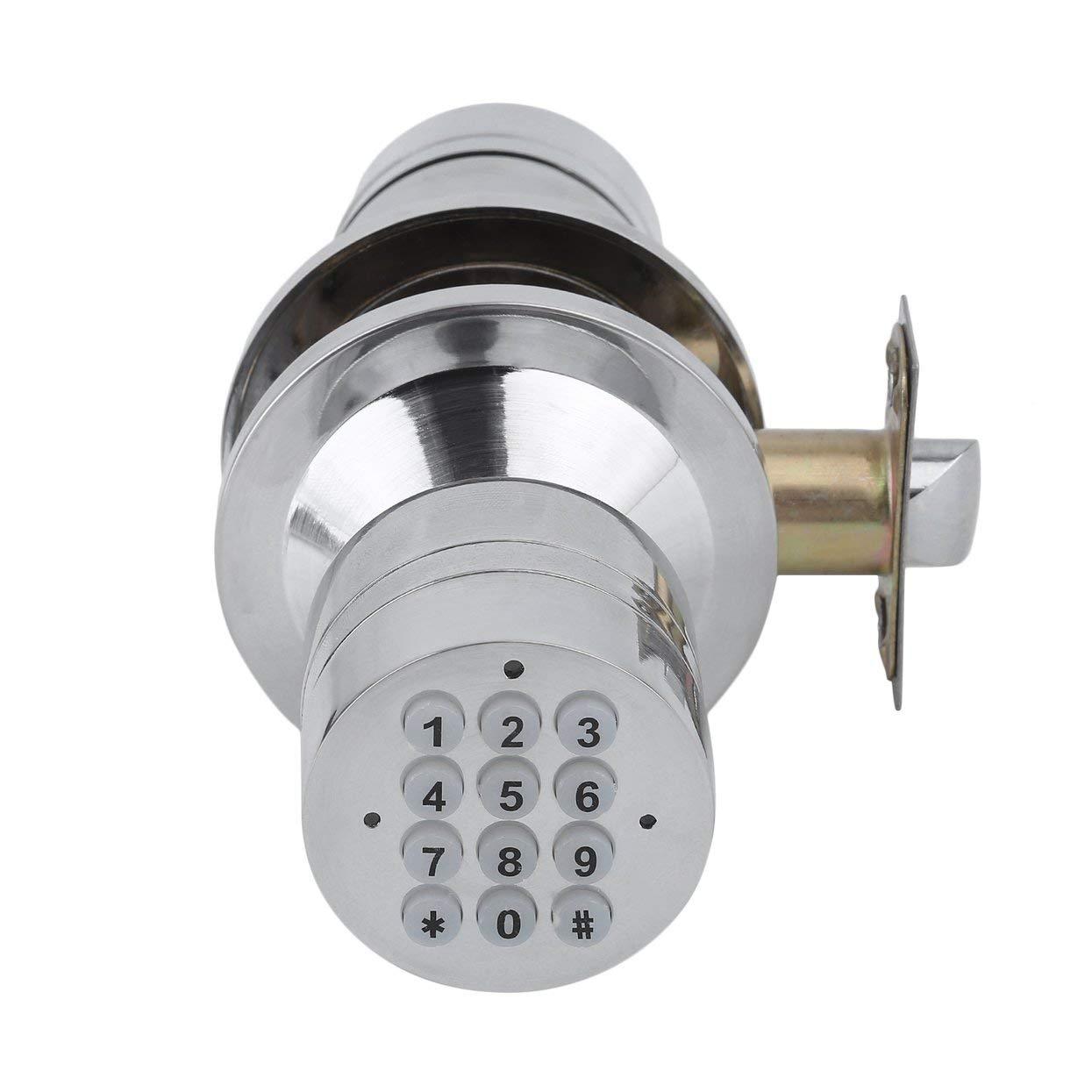 Keyless Electronic Code Password Number Lock Digital Keyless Keypad Security Safety Entry Intelligent Doorlock Silver by ToGames (Image #5)