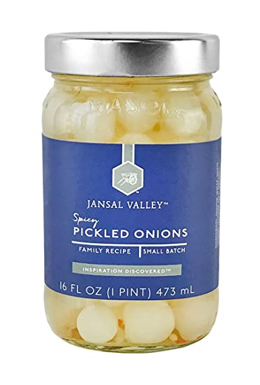 Jansal Valley Spicy Pickled Onions, 16 Fl Oz