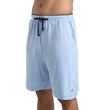 596d5c6c791 Nautica Men's Big and Tall Knit Sleep Lounge Short, Marshmallow Space dye 4X