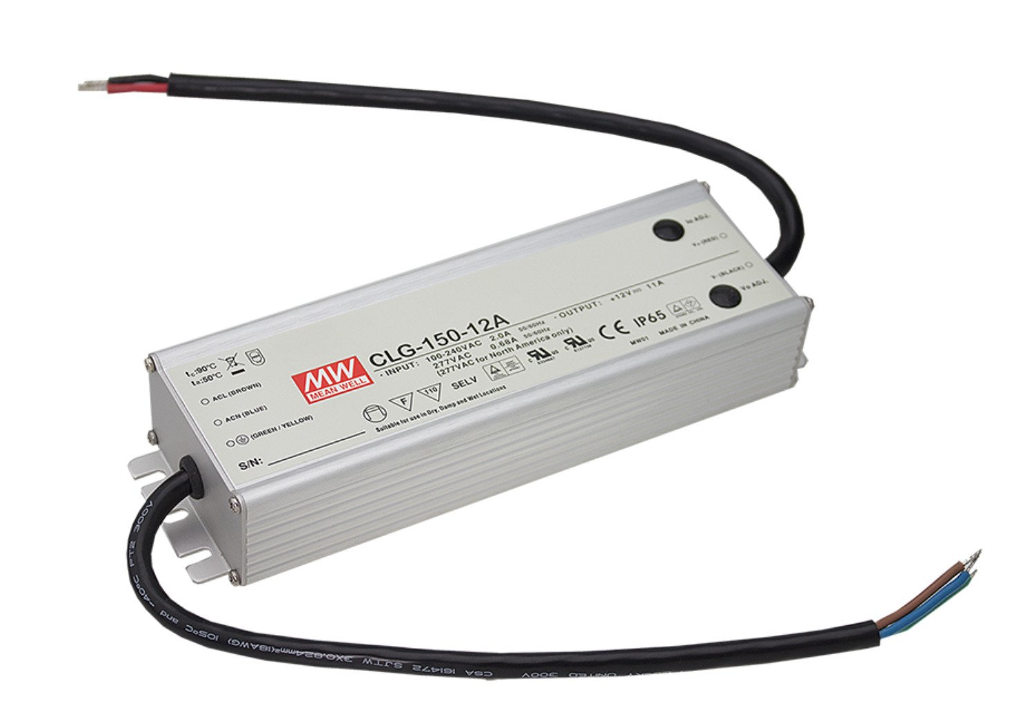MEAN WELL original CLG-150-12A 12V 11A meanwell CLG-150 12V 132W Single Output LED Switching Power Supply