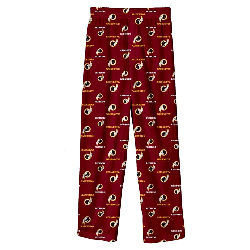 Amazon.com   Outerstuff Washington Redskins Youth NFL All Over Team Logo  Pajama Sleep Pants   Sports   Outdoors de515f43b