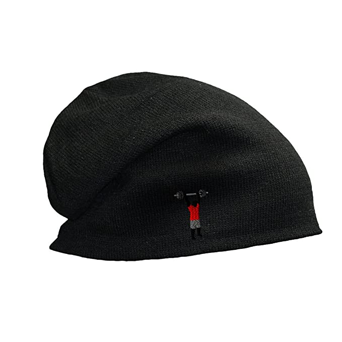 0fdaa2ee2b9 Weight Cross Fit Barbell 1 Embroidered Unisex Adult Acrylic Slouch Beanie  Winter Hat - Black