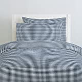 Carousel Designs Denim Houndstooth Duvet Cover Twin Size - Organic 100% Cotton Duvet Cover - Made in the USA