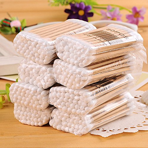 400 PCS cotton swabs coated cotton swabs strong new 7 cm long wooden handle - 400 Spf