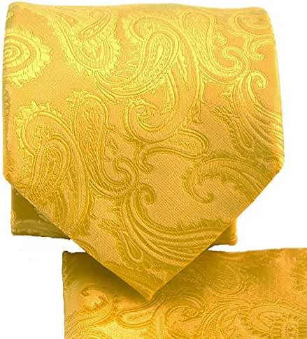 Extra Long Paisley Tie and Square Set by Paul Malone