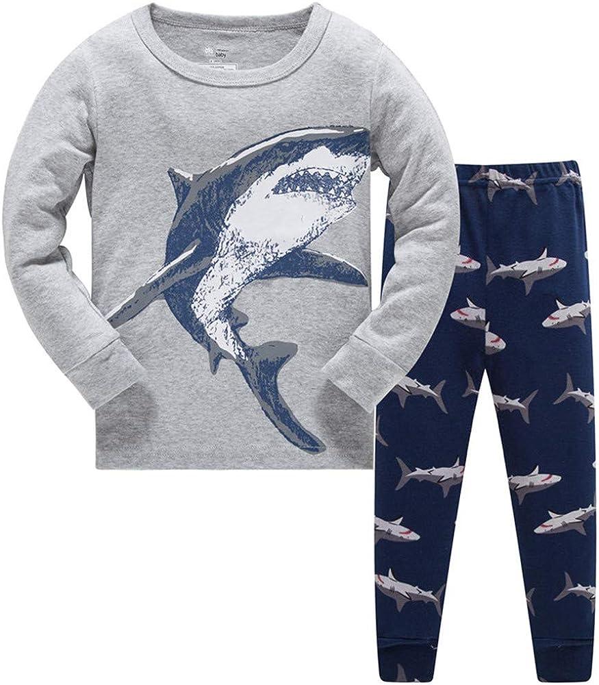 Boys Dinosaur Pyjamas Pj Set Kids Animal Nightwear
