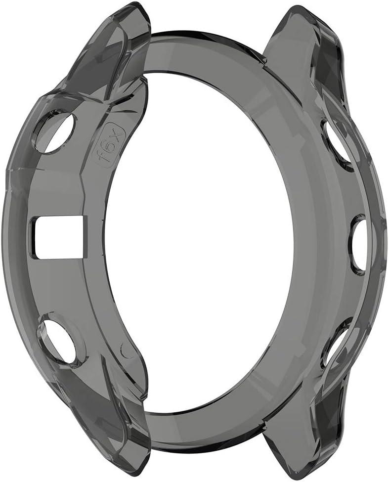 TPU Black MOTONG for Garmin Fenix 6X Transparent TPU Protective Case TPU Protective Case Cover Shell for Garmin Fenix 6X