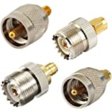 Juego de conectores sma-uhf RF SMA a 4Tipo de Jack/SMA Plug To UHF L259SO239UHF níquel chapado en oro convertidor de prueba