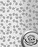 WallFace 13919 3D ROSE Wall panel punched flower decor metal look wallcovering self-adhesive silver grey | 2,60 sqm