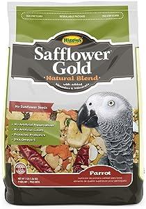 Higgins Safflower Gold Natural Food Mix for Parrots