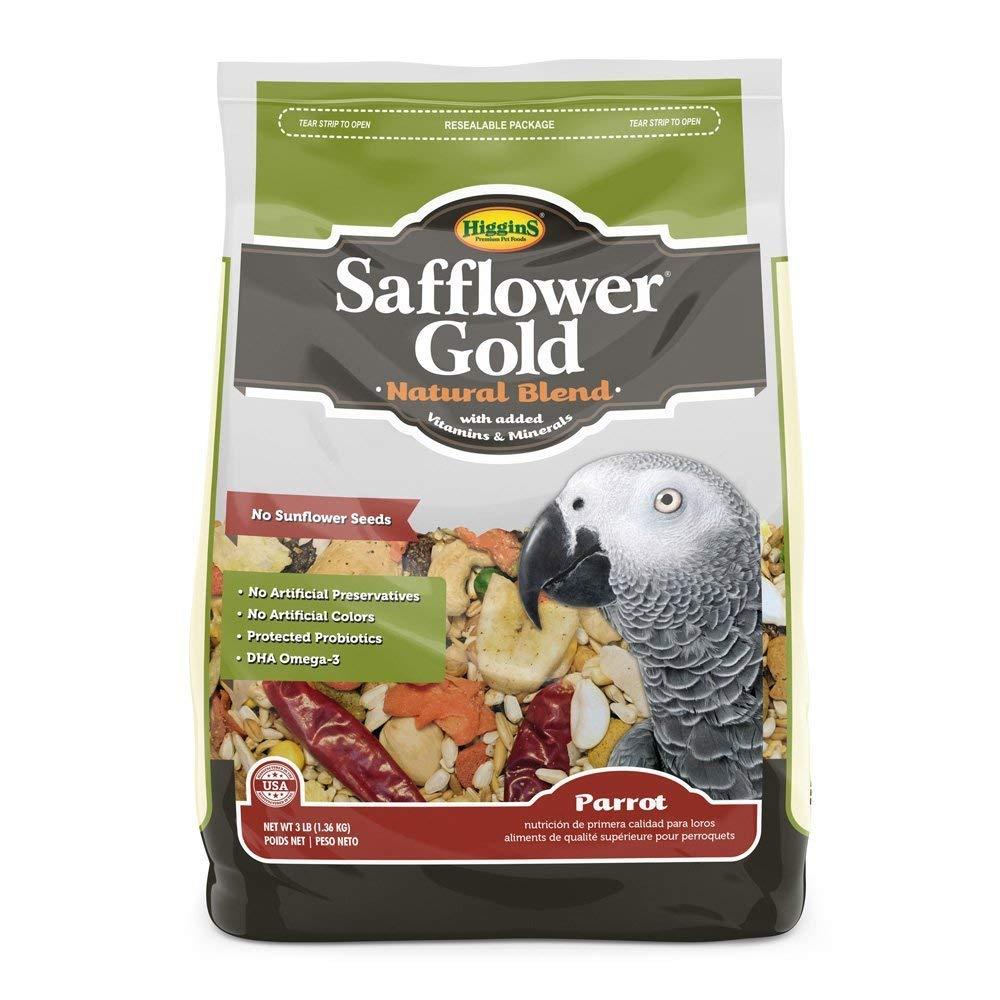 Higgins Safflower Gold Natural Food Mix for Parrots, 6 LBS by Higgins