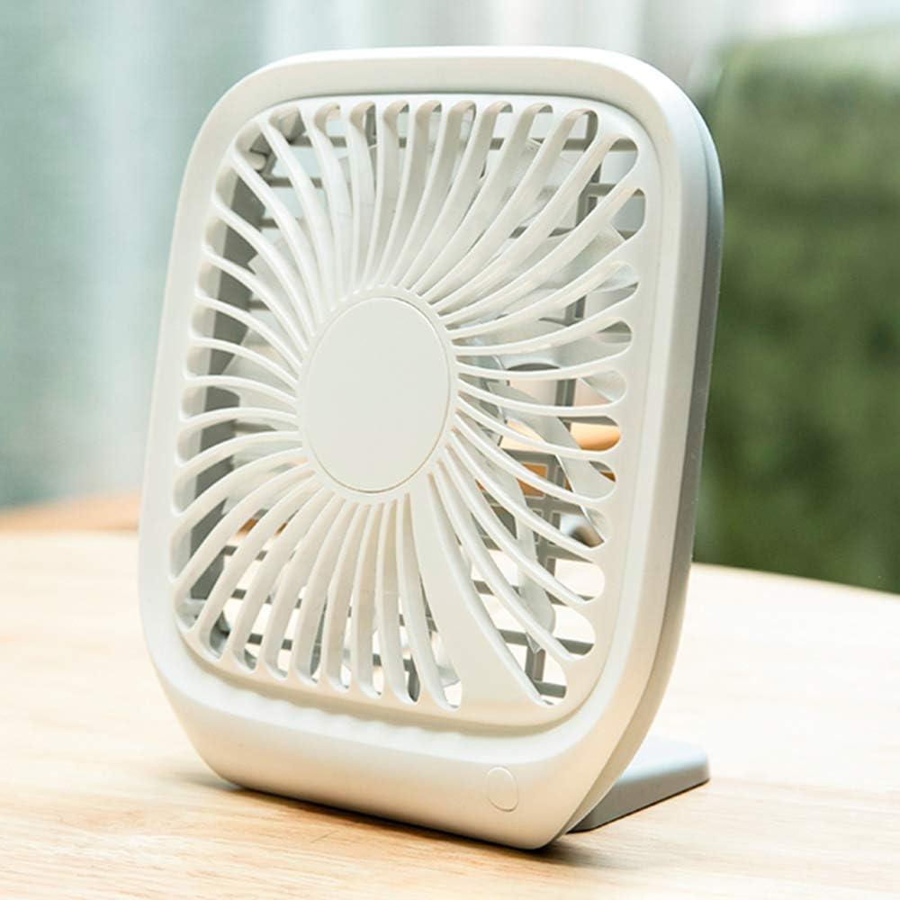 Ventilador Genial Ventilador PortáTil, Ventilador De Mesa Cuadrada, SD-79C0 13 Aspas del Ventilador, Bajo Nivel De Ruido, 3 Velocidades, Gran Volumen De Aire, Cable USB De 120 Cm, Adecuado para Fami