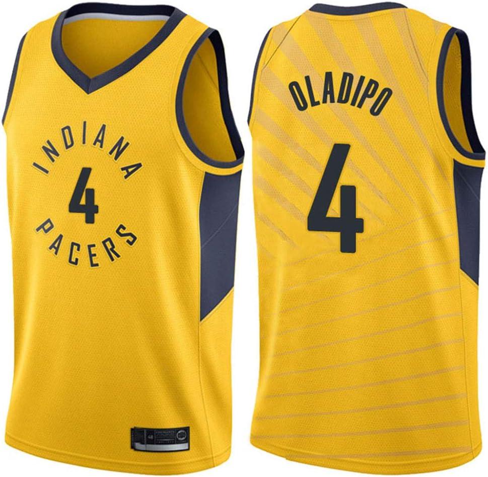 Herren Frau Indiana Pacers 4# Oladipo Jerseys Basketballhemd Atmungsaktiv Mesh Trikots Basketballuniform Stickerei Tops Basketball Anzug