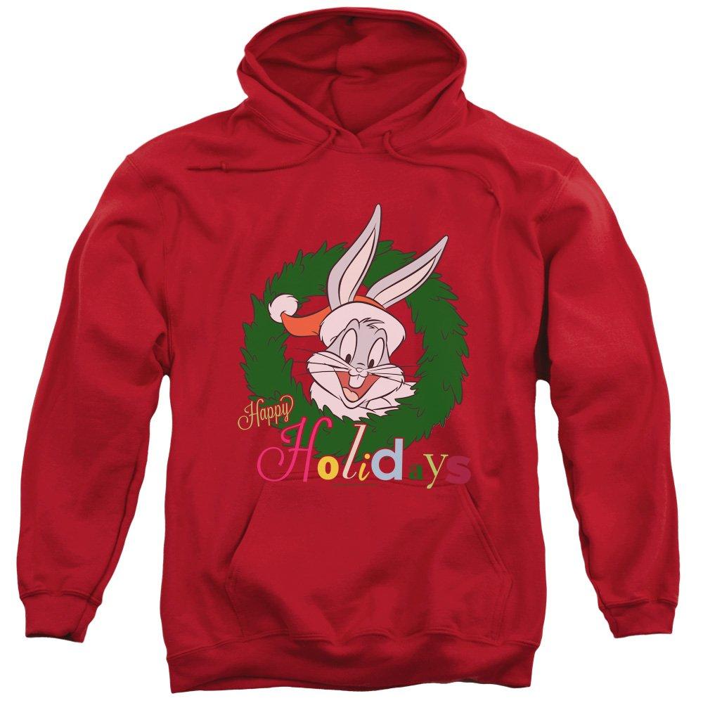 Looney Tunes - - Herren Holiday Bunny Pullover Hoodie