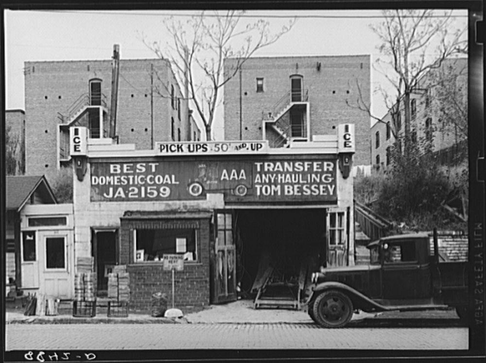 1938 Photo Apartment houses with no rear windows. Omaha, Nebraska Location: Douglas County, Nebraska, Omaha