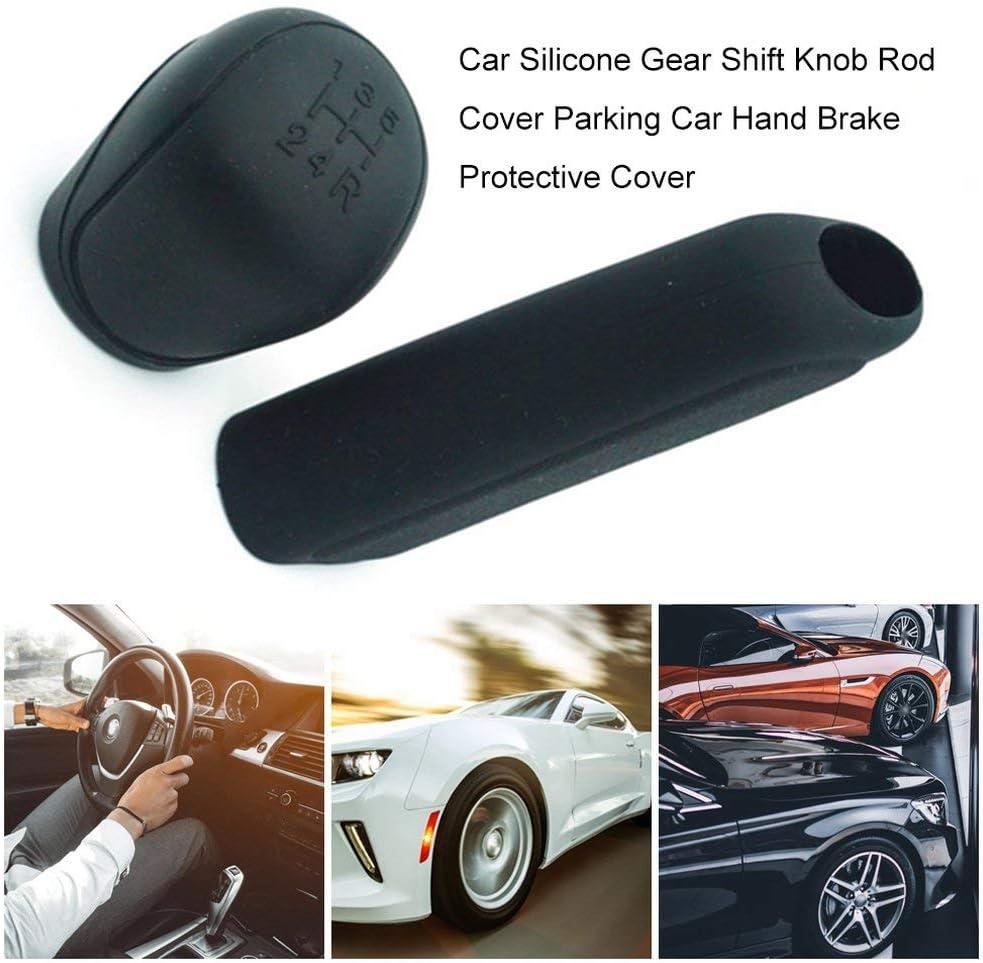 JoyGrace Car Silicone Gear Shift Knob Rod Cover Parking Car Hand Brake Grip Protective Cover Case Decoration Styler
