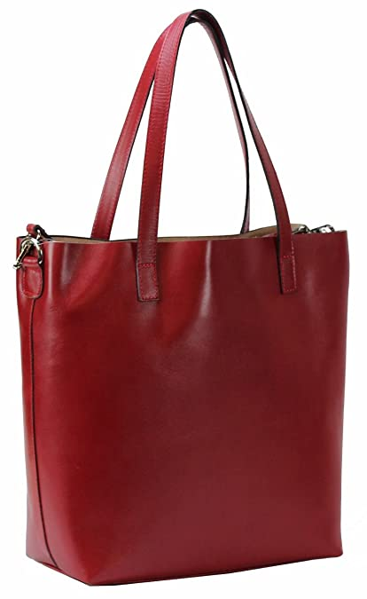 8e39ac5b02d3c BZNA Berlin Rena XXL Luxus Shopper ECHT LEDER Tasche Damentasche  Ledertasche Rot IT Leather  Amazon.de  Schuhe   Handtaschen
