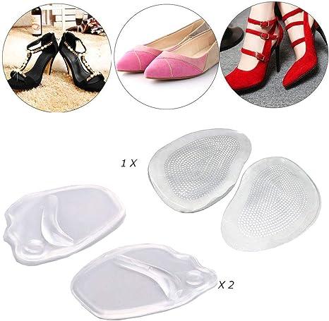 AUTPRO Solette antiscivolo in gel per scarpe con tacchi alti, da donna, da posizionare nella parte anteriore, riduce i dolori della zona di appoggio