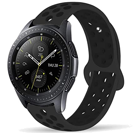 Compatible with Samsung Galaxy Watch 42mm Bands/Gear Sport Band, 20mm Breathable Silicone Strap Sports Replacement Wristband for Galaxy Watch 42mm ...