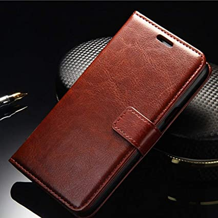 promo code 2098d 46d1a EESM® Leather Case. Premium Slim Leather Stand Case/Cover for Mi A2