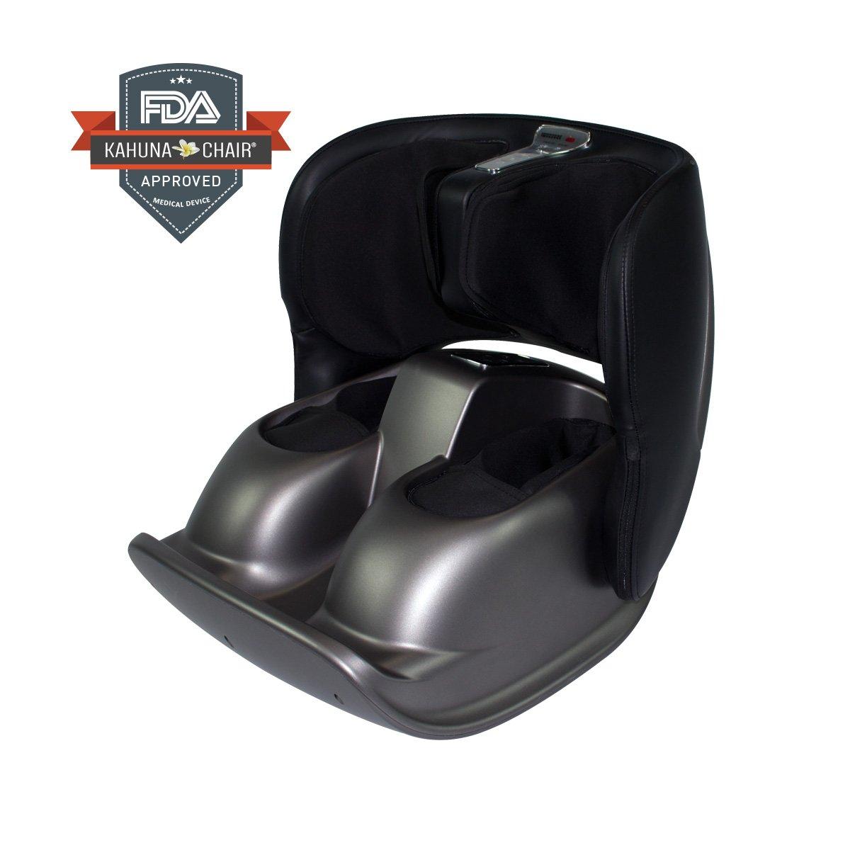 Compact Portable Kahuna Foot Massager PAU (Black/Gray)