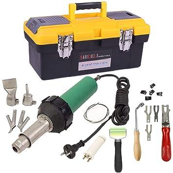 Beyondlife Herramienta plástica de la soldadura del arma del soldador del aire caliente 1600W Herram: Amazon.es: Bricolaje y herramientas
